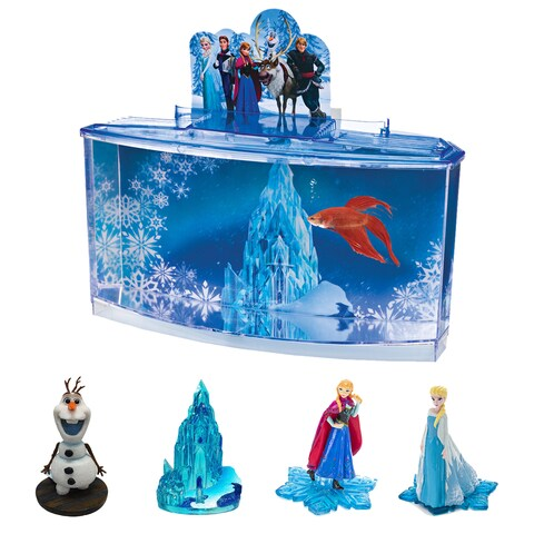 Penn Plax Disney Frozen Aquarium Betta Acrylic 0.7-gallon Fish Tank With 4 Resin Characters