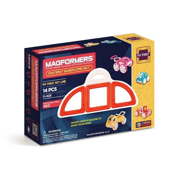 Magformers My First Buggy Red Plastic 14-piece Play Set