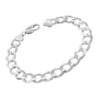 0.925 Sterling Silver 10.5-millimeter Solid Cuban Curb Link ITProLux 9-inch Bracelet Chain