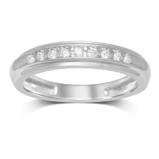 UNENDING LOVE 1/8CTTW 10KT WHITE GOLD CHANNEL SET WEDDING BAND (More options available)