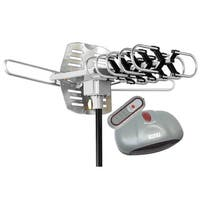 BoostWaves Outdoor 150-mile Range Amplified Antenna with 360-degree Rotation and Remote