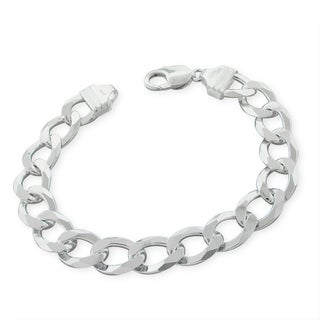 Sterling Silver Italian 12mm Cuban Curb Link ITProLux Solid 925 Bracelet Chain 9""
