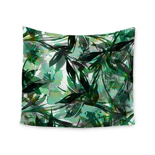 KESS InHouse Ebi Emporium 'Floral Fiesta Green' Watercolor Pattern 51x60-inch Tapestry
