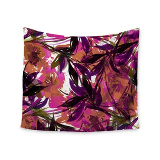 KESS InHouse Ebi Emporium 'Floral Fiesta Pink Plum' Watercolor Painting 51x60-inch Tapestry