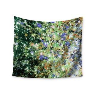 KESS InHouse Ebi Emporium 'Into To The Night Green Purple' Lime Lavender 51x60-inch Tapestry