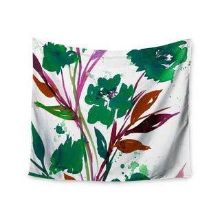 KESS InHouse Ebi Emporium 'Pocket Full Of Posies Teal' Green Pink 51x60-inch Tapestry