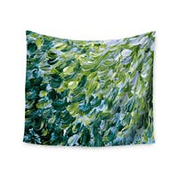 KESS InHouse Ebi Emporium 'Frosted Feathers 3' Green Yellow 51x60-inch Tapestry
