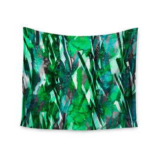 KESS InHouse Ebi Emporium 'Frosty Bouquet 7' Green Abstract 51x60-inch Tapestry