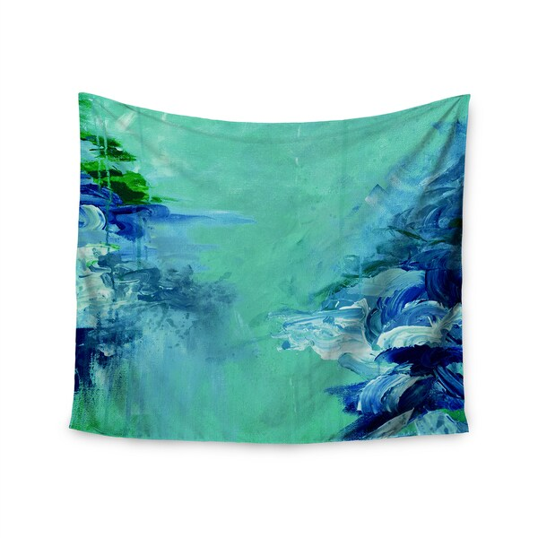 KESS InHouse Ebi Emporium 'Winter Dreamland 6' Green Blue 51x60-inch Tapestry