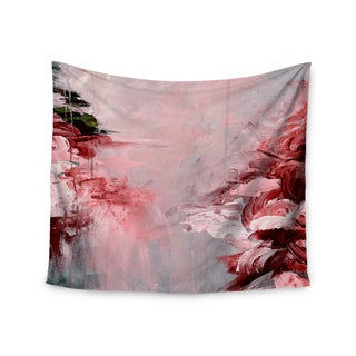 KESS InHouse Ebi Emporium 'Winter Dreamland 5' Red Gray 51x60-inch Tapestry