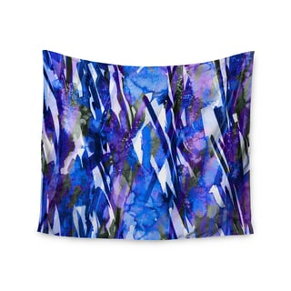 KESS InHouse Ebi Emporium 'Frosty Bouquet 3' Blue Purple 51x60-inch Tapestry
