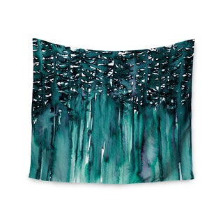 KESS InHouse Ebi Emporium 'Forest Through The Trees 5' Teal White 51x60-inch Tapestry