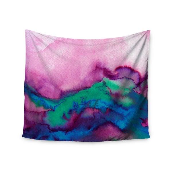 KESS InHouse Ebi Emporium 'Winter Waves 2' Pink Watercolor 51x60-inch Tapestry