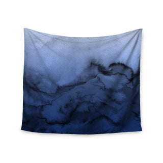 KESS InHouse Ebi Emporium 'Winter Waves 3' Blue Black 51x60-inch Tapestry