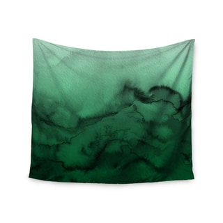 KESS InHouse Ebi Emporium 'Winter Waves 7' Green Black 51x60-inch Tapestry