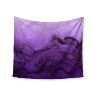 KESS InHouse Ebi Emporium 'Winter Waves 9' Purple Abstract 51x60-inch Tapestry