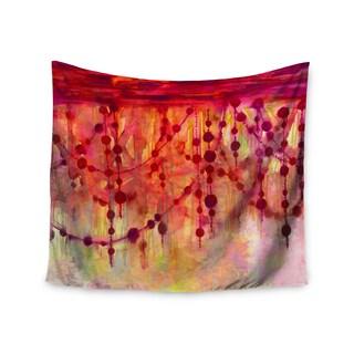 KESS InHouse Ebi Emporium 'Prismacolor Pearls' Pink Orange 51x60-inch Tapestry
