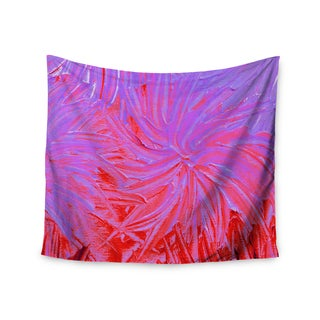 KESS InHouse Ebi Emporium 'Water Flowers Crimson Lilac' Pink Red 51x60-inch Tapestry