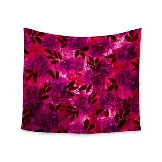 KESS InHouse Ebi Emporium 'Grunge Flowers IV' Pink Red 51x60-inch Tapestry