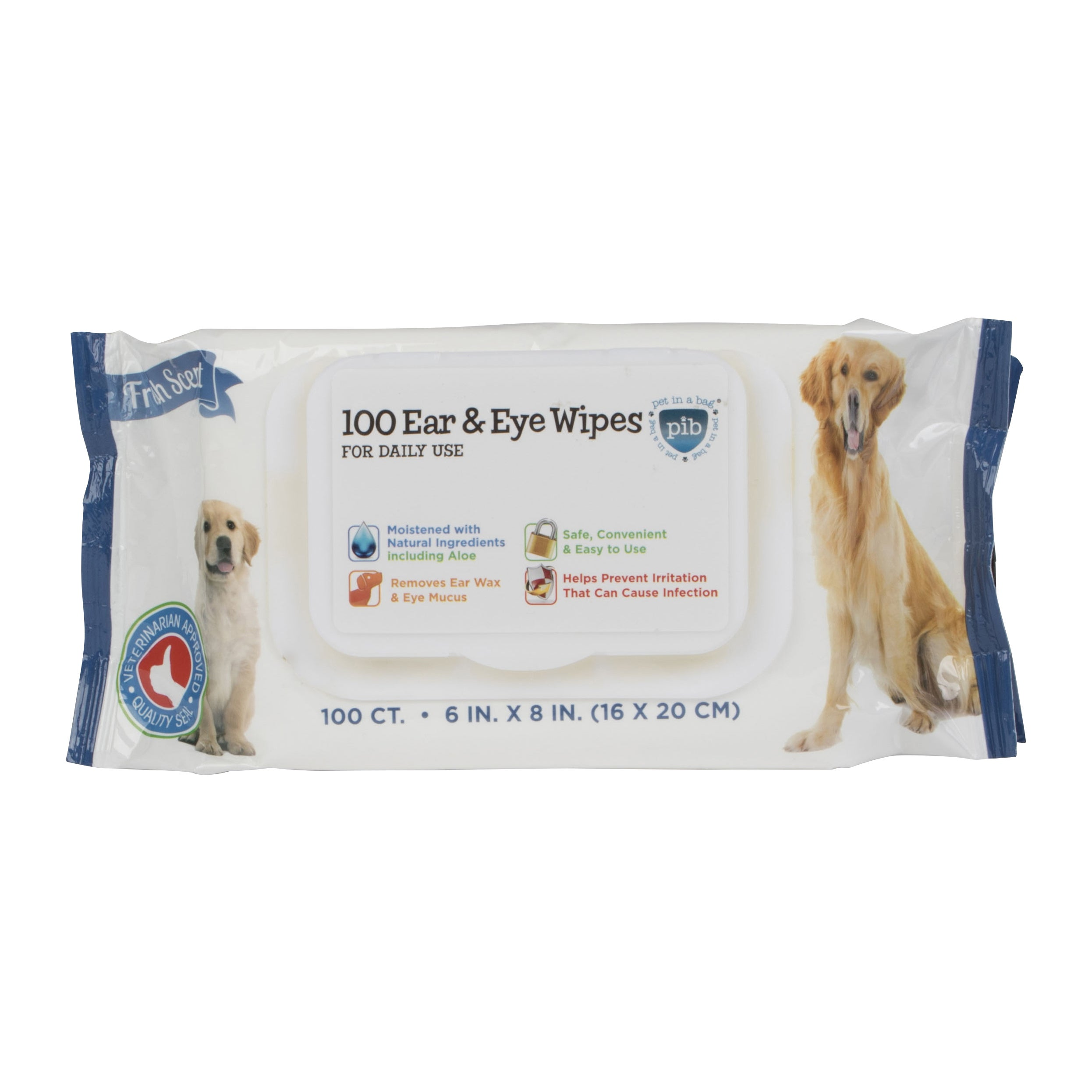 Pet Cleaning Dog/Cat Wipes (Case of 100) (100 EAR AND EYE...