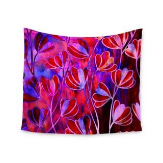 KESS InHouse Ebi Emporium 'Efflorescence - Red Pink' Magenta Lavender 51x60-inch Tapestry