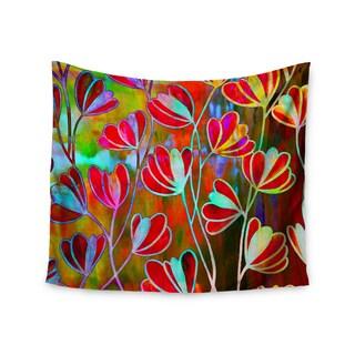 KESS InHouse Ebi Emporium 'Efflorescence - Technicolor' Red Multicolor 51x60-inch Tapestry