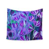 KESS InHouse Ebi Emporium 'Efflorescence - Lavender Blue' Teal Purple 51x60-inch Tapestry