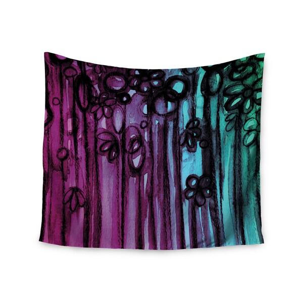 KESS InHouse Ebi Emporium 'Winter Garden - Ombre' Purple Teal 51x60-inch Tapestry