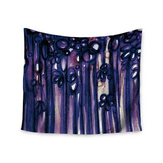KESS InHouse Ebi Emporium 'Winter Garden in Violet' Purple 51x60-inch Tapestry
