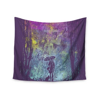 KESS InHouse Frederic Levy-Hadida 'Purple Rain' 51x60-inch Tapestry