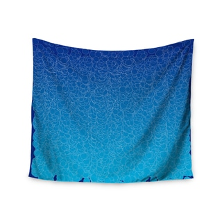 KESS InHouse Frederic Levy-Hadida 'Bubbling Blue' 51x60-inch Tapestry