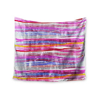 KESS InHouse Frederic Levy-Hadida 'Fancy Stripes Pink' 51x60-inch Tapestry
