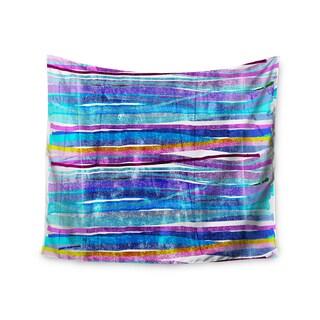 KESS InHouse Frederic Levy-Hadida 'Fancy Stripes Dark Blue' 51x60-inch Tapestry