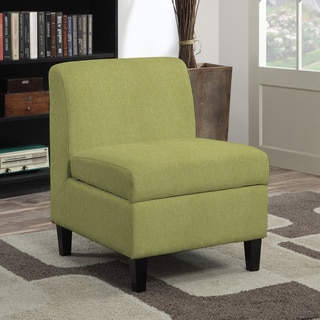 Portfolio Wrigley Green Linen Armless Storage Chair