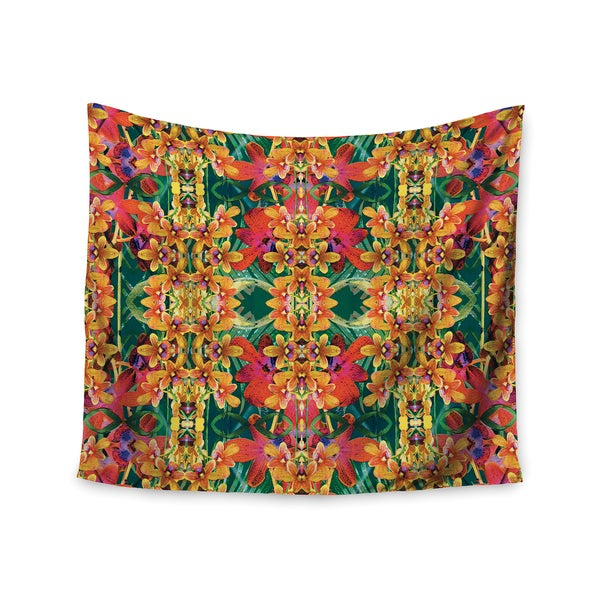 KESS InHouse Dawid Roc 'Tropical Floral' Orange Pink 51x60-inch Tapestry