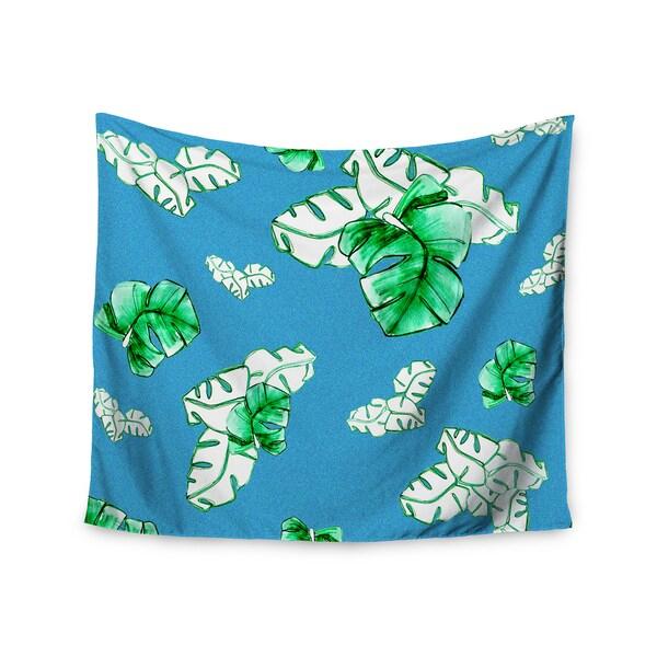 KESS InHouse Danii Pollehn 'Palmtree' Green Blue 51x60-inch Tapestry