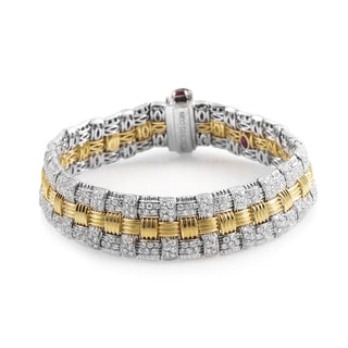 Roberto Coin Appassionata 18K Multi-Gold Diamond Bracelet