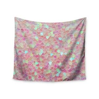 KESS InHouse Debbra Obertanec 'Hearts Galore' Pink Love 51x60-inch Tapestry