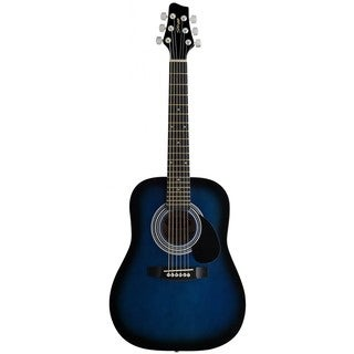 Stagg SW201 1/2 BLS Blue Burst Dreadnought Acoustic 1/2-size Guitar