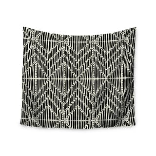 KESS InHouse DLKG Design 'Tribal Drawings' Chevron Black 51x60-inch Tapestry