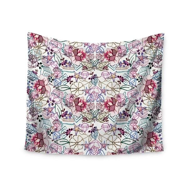 KESS InHouse DLKG Design 'Cool Stitch White' Blush 51x60-inch Tapestry