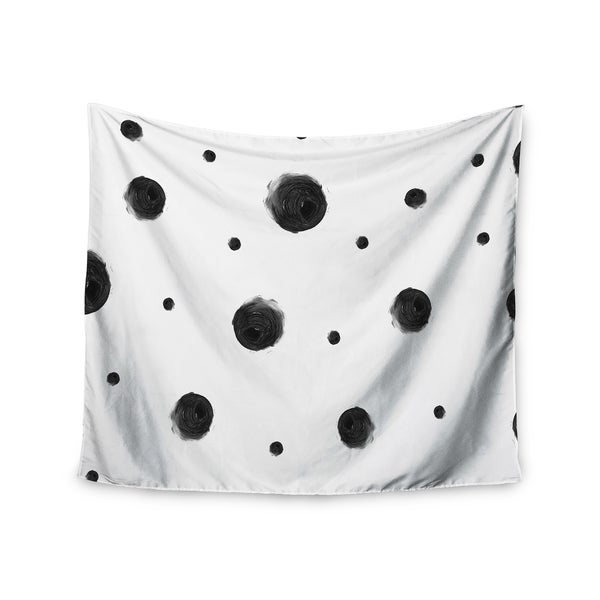 KESS InHouse Chelsea Victoria 'Black Dots' Pattern Abstract 51x60-inch Tapestry