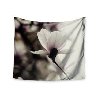KESS InHouse Chelsea Victoria 'Vanilla Magnolia' Yellow Floral 51x60-inch Tapestry