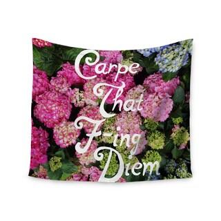 KESS InHouse Chelsea Victoria 'Carpe That F-Ing Diem' Nature Pink 51x60-inch Tapestry