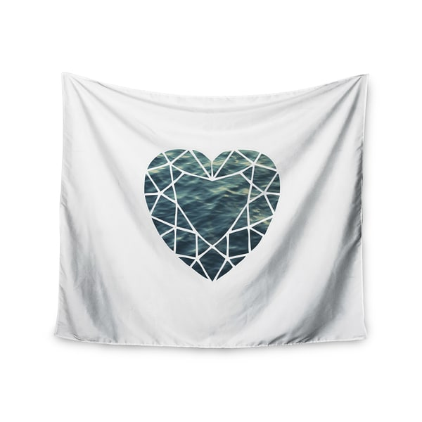 KESS InHouse Chelsea Victoria 'Ocean Love' Photography Blue 51x60-inch Tapestry
