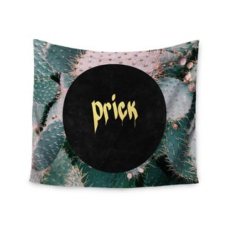 KESS InHouse Chelsea Victoria 'Prick' Typography Green 51x60-inch Tapestry