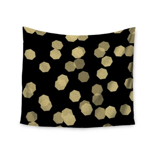 KESS InHouse Chelsea Victoria 'Confetti Noir' Black Gold 51x60-inch Tapestry