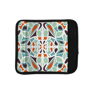 KESS InHouse Miranda Mol 'Orange Purple Stained Glass' Luggage Handle Wrap