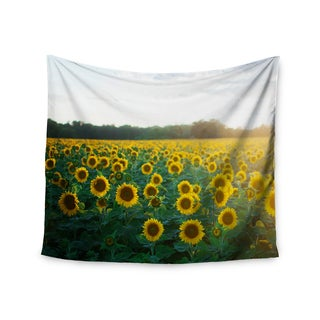 KESS InHouse Chelsea Victoria 'Sunflower Fields' Floral Photography 51x60-inch Tapestry