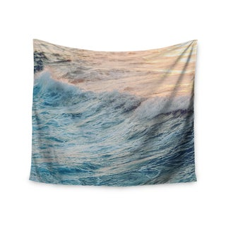 KESS InHouse Chelsea Victoria 'Sherbert Ocean' Orange Nature 51x60-inch Tapestry|https://ak1.ostkcdn.com/images/products/12107505/P18969371.jpg?_ostk_perf_=percv&impolicy=medium